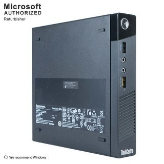 Certified Refurbished Lenovo M93P Tiny, Intel i7-4765T 2.0GHz, 16GB DDR3, 360GB SSD, WIFI, BT 4.0, HDMI, W10P64 (EN/ES)