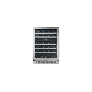 Avallon AWC241DZLH 24 Inch Wide 46 Bottle Capacity Dual Zone Wine Cooler with Left Swing Door - STAINLESS STEEL - N/A