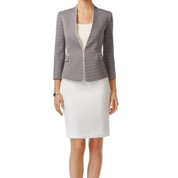 Shop Tahari by ASL NEW Blue Navy White Women s 12 Pencil Skirt Suit Set -  Free Shipping Today - Overstock - 18850033 642af90ea