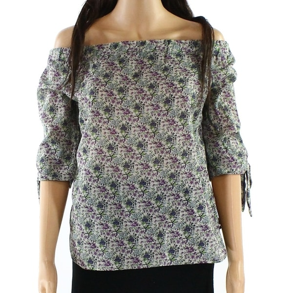 04a3942aca888 Shop Willow   Clay Green Women s Size Small S Off Shoulder Floral Blouse -  On Sale - Free Shipping On Orders Over  45 - Overstock.com - 22437894
