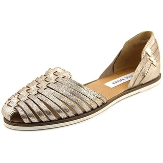 Steve Madden Hillarie Women  Round Toe Leather Gold Flats