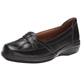 Clarks Womens Evianna Prim Leather Cut-Out Round-Toe Shoes - 7 medium (b,m)