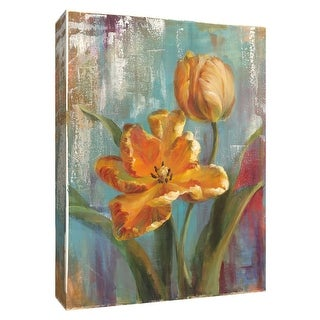 """PTM Images 9-154691  PTM Canvas Collection 10"""" x 8"""" - """"Parrot Tulips I"""" Giclee Tulips Art Print on Canvas"""