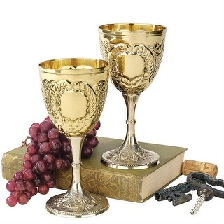 Link to Design Toscano The King's Royal Chalice Embossed Brass Goblets: Set of Two Similar Items in Glasses & Barware
