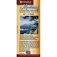 """Masterpiece - Monterey Acrylic Primed Cotton Canvas Roll - 62"""" x 3 yds."""
