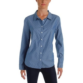 Tommy Hilfiger Womens Button-Down Top Polka Dot Chambray (3 options available)