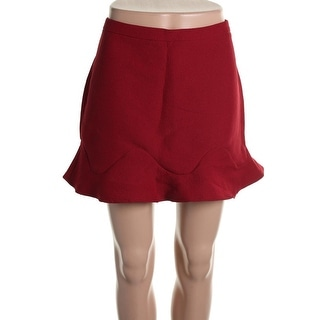 Zara Trafaluc Womens Flare Above Knee A-Line Skirt - L