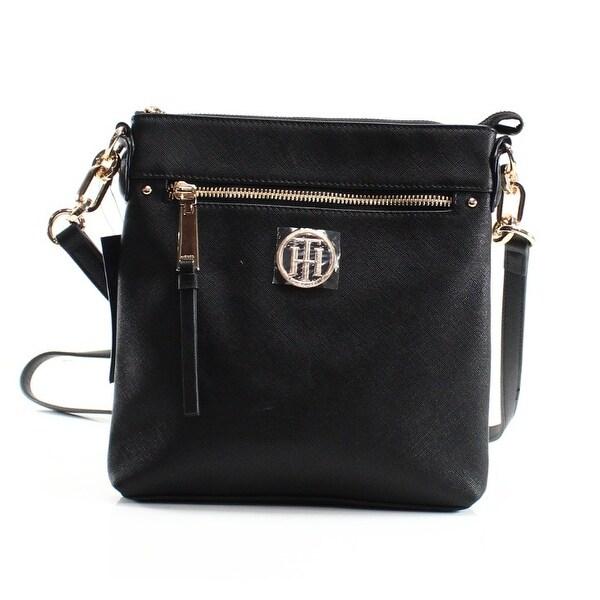 7867637dca Shop Tommy Hilfiger NEW Black Saffiano Charming Zip Top NS Crossbody ...