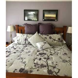 Madison Park Isabella Purple 8 Piece Cotton Comforter Set
