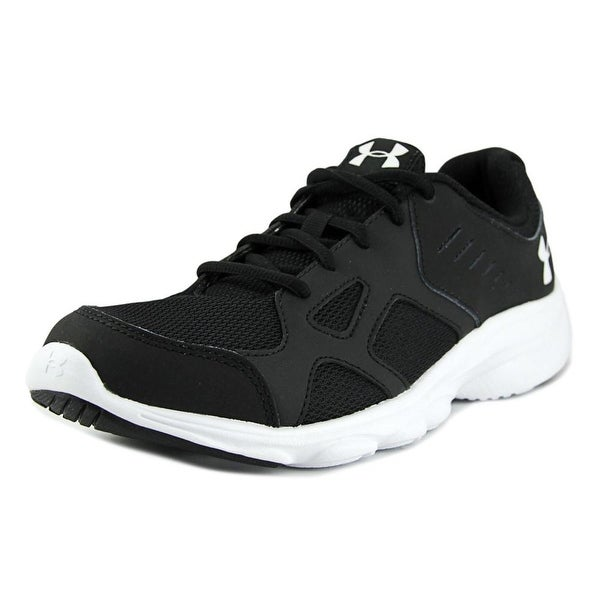 Under Armour BGS Pace RN Youth Round Toe Synthetic Black Running Shoe