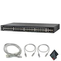 Cisco SG550X-48-K9-NA 48-Port Gigabit Managed Switch with Extra Cat5 Cables (1-Pack)
