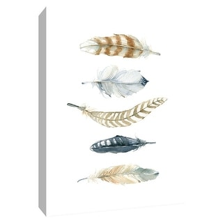 "PTM Images 9-148581  PTM Canvas Collection 10"" x 8"" - ""Feather Collection II"" Giclee Feathers Art Print on Canvas"