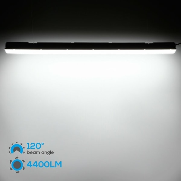 LEONLITE 70W LED Vapor Proof Fixture 5000K Safety Guarantee Pack of 4 7700lm