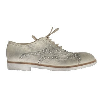 Dolce & Gabbana Dolce & Gabbana Beige Leather Wingtip Shoes - eu44-us11