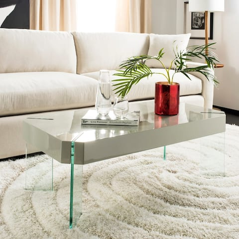 "Safavieh Katelyn Glass Rectangular Coffee Table - 43.3"" W x 23.6"" L x 15.7"" H"