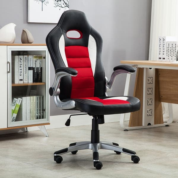 Shop Belleze Race Seat Bucket Style Office Chair Ergonomic ... on racing chair, race car bucket seat, wide seat office chair, car seat gaming chair, ejection seat office chair, truck seat office chair, officw car seat chair, race car office furniture, sitting in a chair, red computer chair, race car chair, racer chair, red tractor seat desk chair, car seat office chair, race seat stool, sport seat office chair, bike seat office chair, car seat recline chair, bucket seat office chair,