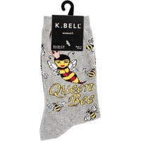 Novelty Crew Socks-Queen Bee