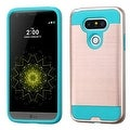 Insten Dual Layer Hybrid Rubberized Hard PC/ Silicone Case Cover For LG G5 - Thumbnail 0