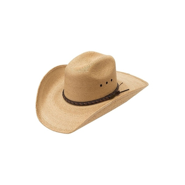 21fa2a6f6faf2 Shop Larry Mahan 30X Lawton Gold Straw Cowboy Hat Size 6 7 8 - Free  Shipping On Orders Over  45 - Overstock - 15096689