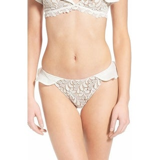 For Love & Lemons NEW White Ivory Women's Size Small S Bikini Bottom