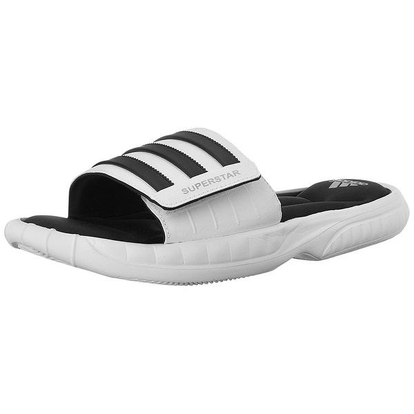 promo code 339ae e0a97 Adidas Superstar 3G CloudFoam Athletic Slide Sandals - White Black