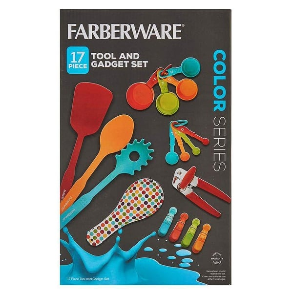 Farberware 5233248 Color Series 17 Piece Kitchen Tools Gadgets Starter Set Durable Plastic Stainless Steel Multicolor Overstock 29309009