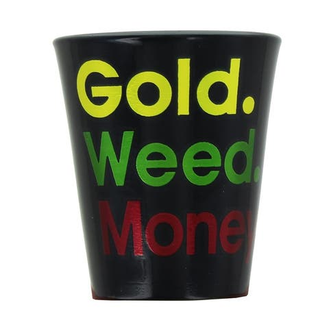 Gold Weed Money Shot Glass - Multi