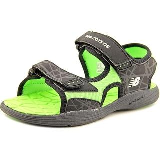 New Balance Poolside Sandal Youth Open-Toe Synthetic Black Sport Sandal