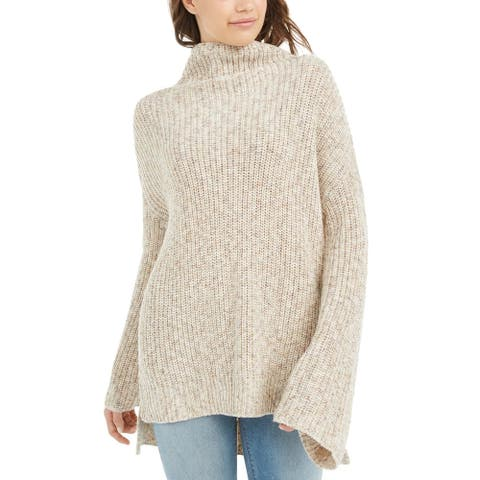 American Rag Juniors' Flare-Sleeved High-Low Sweater Beige Size Medium