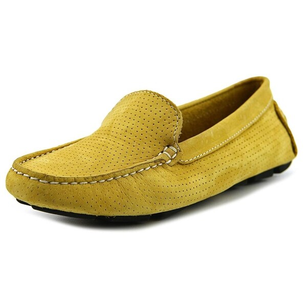 ac3fe82f844 Shop Mercanti Fiorentini 3602 Men Moc Toe Suede Yellow Loafer - Free ...