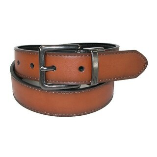 Nautica Boys' Reversible Belt with Gun Metal Buckle
