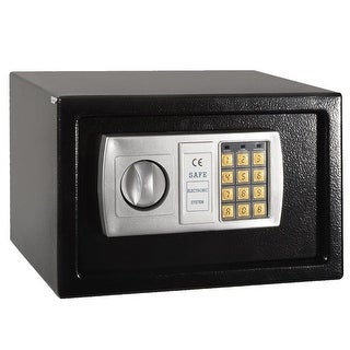 "Costway 12.5"" Electronic Keypad Digital Lock Safe Box Cash Jewelry Gun Black"