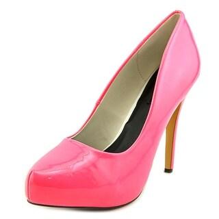 Michael Antonio Launey Women Open Toe Synthetic Pink Platform Heel