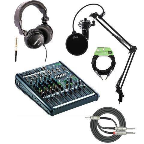 Mackie ProFX8v2 8-Channel Professional Effects Mixer with Mic Bundle