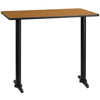"Dyersburg 30'' x 48'' Rectangular Natural Laminate Table Top w/42"" High T-Base"