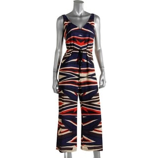 Clover Canyon Womens Printed Woven Jumpsuit