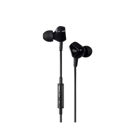 Monoprice Triple Driver Earbuds Headphones With In-line Microphone And 1-Button Control, 2 Balanced Armatures