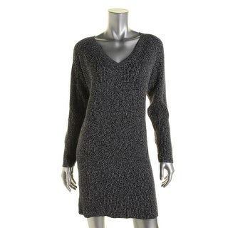 French Connection Womens V Neck Ribbed Knit Sweaterdress - 6