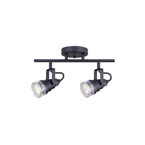 """Canarm IT667A0210 Brock 2-Light 14"""" Wide Fixed Rail - Ceiling or Wall Mount"""