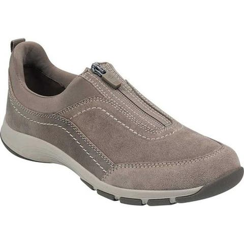 Easy Spirit Women's Cave Zip Up Sneaker Taupe Textile