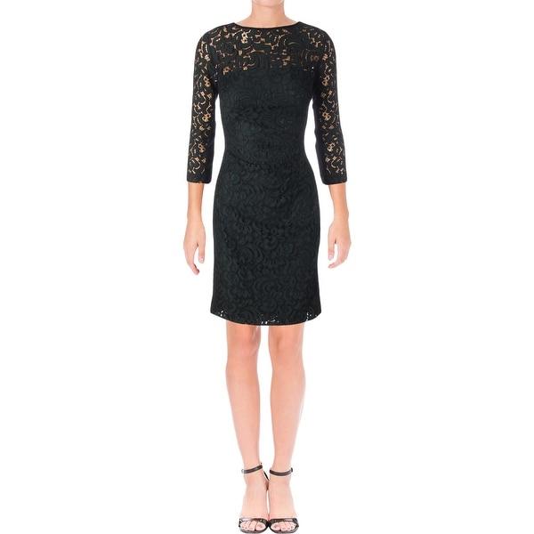 Lauren Ralph Lauren Womens Cocktail Dress Party Lace
