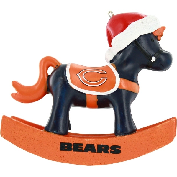 Chicago Bears Resin Rocking Horse Ornament