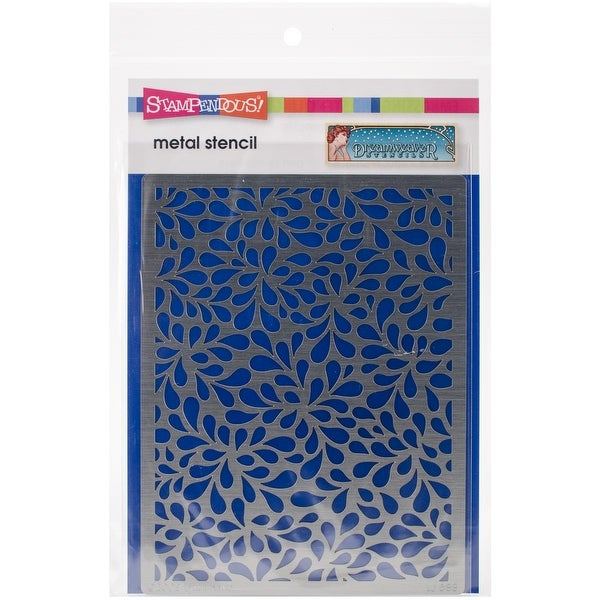 "Dreamweaver Metal Stencil 4""X6.75""-Petals Background"