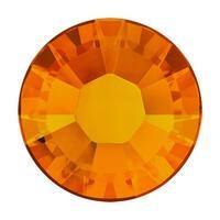 Swarovski Elements Crystal, Round Flatback Rhinestone Hotfix SS12 3mm, 50 Pieces, Tangerine
