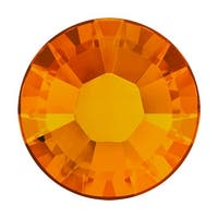 Swarovski Elements Crystal, Round Flatback Rhinestone Hotfix SS16 3.8mm, 50 Pieces, Tangerine
