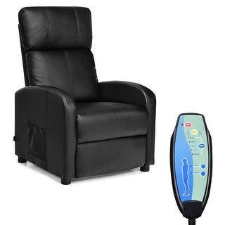 Costway Electric Massage Recliner Sofa Chair Lounge Adjustable with Remote Control Black