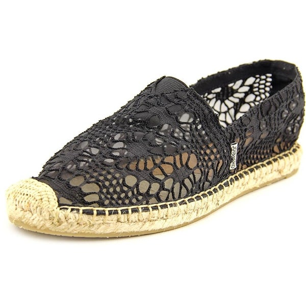Joy & Mario Daisy Women Round Toe Canvas Black Espadrille