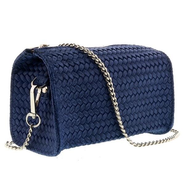 HS1152 BJ PIA Blue Jeans Leather Wristlet/Crossbody Bag - 7-4-4