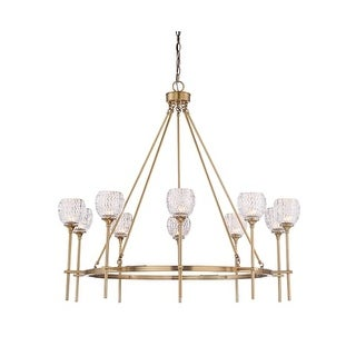 """Savoy House 1-9102-10 Garland 10 Light 36"""" Wide Chandelier with Crystal Shades"""
