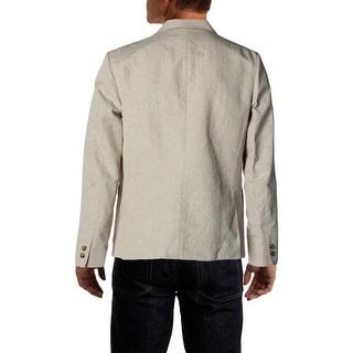 Steven Alan Mens Slim Fit Linen Blend Two-Button Blazer